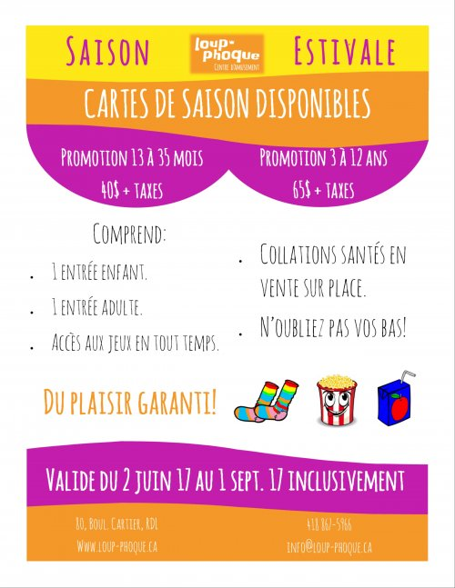 Carte de saison estivale disponible!